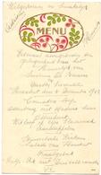 Menu - Eetmaal Huwelijk Simonne De Beurme X Gaston Vercoutere - Heestert 1943 - Menus