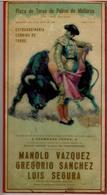 AFFICHETTE ORIGINALE PLAZA De TOROS De PALMA DE MALLORCA - CORRIDA  Dimanche 13 Juillet 1958 - Posters
