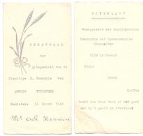 Menu - Feestmaal Communie Arnold Vuylsteke - Meulebeke 1948 - Menus