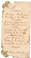 Menu - Diner - Nazareth 17 Sept 1907 - Menus