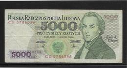 Pologne - 5000 Zlotych - Pick N°150c - TTB - Pologne