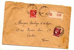 Lettre Recommandee Carmaux Sur Ceres Mercure - Storia Postale