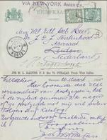 "Netherland Cols- Curacao 1905 Sent Via NewYork To The Netherlands   005 8.50  ""payment Request"" By ""invoice"" - Curaçao, Antilles Neérlandaises, Aruba"