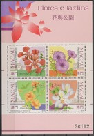Macau Portugal China Chine 1991 - Bloco Nº 17 - Flores E Jardins - Flowers And Gardens - SOUVENIR SHEET Mint MNH - Blocs-feuillets