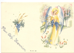 Menu - Spijskaart Communie Maria Vuylsteke - Meulebeke 1952 - Menus