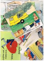 Illustrateur Alexandre  Humour Pin Up  Lot De 25 Cartes Differentes  Hu19 - Alexandre