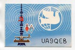 QSL RADIO AMATEUR CARD 1986 UA9QEB KURGAN USSR C99 - Radio Amateur