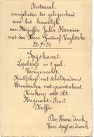 Menu - Feestmaal Huwelijk Julia Hennion X Gustaaf Vuylsteke - 1931 - Esen - Meulebeke - Menus