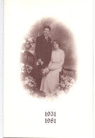Menu - Feestmaal Jubileum Huwelijk Julia Hennion X Gustaaf Vuylsteke - 1931 - 1981 - Esen - Meulebeke - Menus