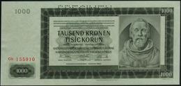 BOHEMIA & MORAVIA - 1.000 Korun 24.10.1942 {2 Auflage Prefix #a&b} {SPECIMEN} AU-UNC P.15 S - Czechoslovakia