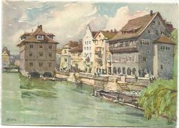 W3489 Zurich - Rathaus Un Ruden - Illustrazione Illustration / Non Viaggiata - ZH Zurich