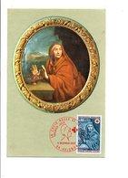 CARTE MAXIMUM 1969 CROIX ROUGE MIGNARD - Maximum Cards