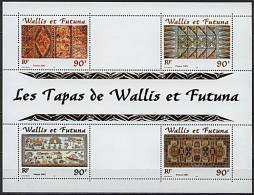 Wallis, BF N° 10** Y Et T, Bloc Feuillet, Artisanat, Tapas. - Blocs-feuillets