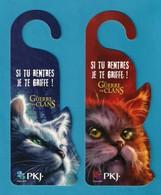 2 Marque Page Découpé, Accroche-porte PKJ.  Chats.   Bookmark - Bookmarks