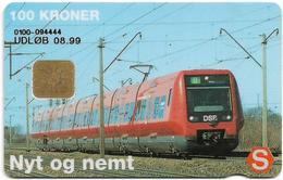 Denmark - Danmønt - DSB S-Train - DD161-B1 - (Chip Siemens S3) 100Kr. Exp. 08.1999, 5.000ex, Used - Denmark