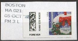 USA 2017 Scott 5146 Used Machine Stamp Boston, Christmas - Etats-Unis