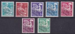 France, Préoblitérés - Yvert N° 106,108/112 Et 114 - Preobliterados