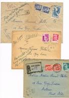 2 COURRIER EXPRESS 1 RECOMMANDE 1946 1947 AUBUSSON POUR MULHOUSE - Stamps