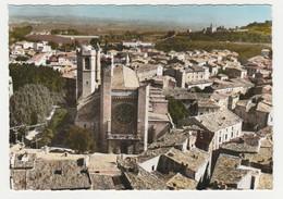 34 En Avion Au Dessus De Clermont L'Hérault La Cathédrale St Paul écrite En 1980 - Clermont L'Hérault