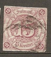 T Et T - Yv. N° 40 Mi. N°24  (o) 15k  Lilas  Etats Du Sud Cote  130 Euro  BE  2 Scans - Thurn And Taxis