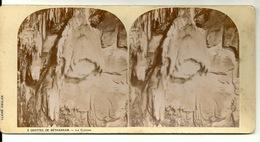 PHOTO STEREOTYPE SUR SUPPORT CARTON / GROTTES DE BETHARRAM - LA CLOCHE - Anciennes (Av. 1900)