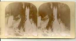 PHOTO STEREOTYPE SUR SUPPORT CARTON / GROTTES DE BETHARRAM - LE MINARET - Anciennes (Av. 1900)