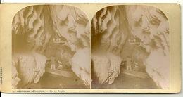 PHOTO STEREOTYPE SUR SUPPORT CARTON / GROTTES DE BETHARRAM - SUR LA RIVIERE - Anciennes (Av. 1900)