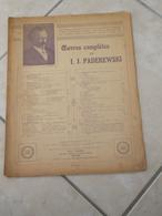 Menuet -(Musique I.J. Paderewski) - Partition (Piano) - Instruments à Clavier