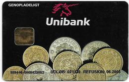 Denmark - Danmønt - Testkort Unibank - G007 - Exp. 30.11.2002, Used - Denmark