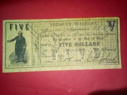 CONFEDERATE THE STATE OF TEXAS 5 DOLLARS FIVE DOLLAR USA 1862 Reproduction - Confederate Currency (1861-1864)