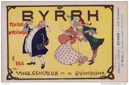 EB8- ILLUSTRATEUR ALBERTILUS  - CONCOURS D´AFFICHES BYRRH  - ALCOOL - MARQUIS - ART NOUVEAU - QUINQUINA - 2 SCANS - Publicité