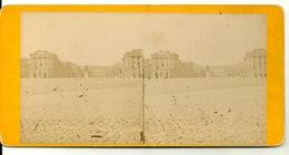 PHOTO STEREOTYPE SUR SUPPORT CARTON / CHATEAU DE VERSAILLES - COUR D'HONNEUR - Anciennes (Av. 1900)