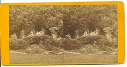 PHOTO STEREOTYPE SUR SUPPORT CARTON / CHATEAU DE VERSAILLES - BAIN D'APOLLON - Anciennes (Av. 1900)