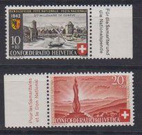 Switzerland 1942 Pro Patria / Bundesfeier 2v ** Mnh (43197A) - Pro Patria