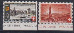 Switzerland 1942 Pro Patria / Bundesfeier 2v (+margin) ** Mnh (43197B) - Pro Patria