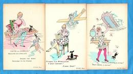 5 Cartes O.TRAIT . Militaria - Illustratori & Fotografie