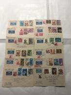 INDIA) STORIA POSTALE 1970-77 Lotto Di 59 Buste Viaggiate Aeree ANNI 70 - India