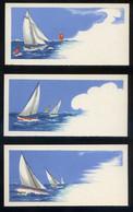 *Veleros* Lote 3 Impresos Formato Tarjeta 60 X 120 Mms. Nuevas. - Other Collections