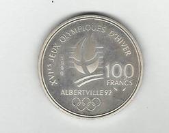Pièce  Argent Monnaie De Paris J.O. Albertville   Patinage De Vitesse Neuve Parfaite Dans Son  écrin D'origine TB - Winter 1992: Albertville