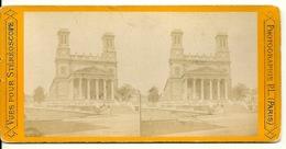 PHOTO STEREOTYPE SUR SUPPORT CARTON / PARIS - SAINT VINCENT DE PAUL - Anciennes (Av. 1900)