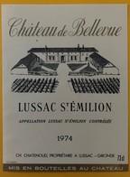 10607- Château De Bellevue 1974 Lussac Saint Emilion - Bordeaux
