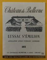 10608- Château De Bellevue 1972 Lussac Saint Emilion - Bordeaux