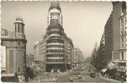 W3499 Madrid - Avenida José Antonio - Auto Cars Voitures / Viaggiata 1960 - Madrid