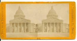 PHOTO STEREOTYPE SUR SUPPORT CARTON / PARIS - LE PANTHEON - Anciennes (Av. 1900)