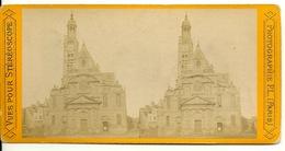PHOTO STEREOTYPE SUR SUPPORT CARTON / PARIS - SAINT ETIENNE DU MONT - Anciennes (Av. 1900)