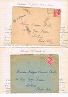EXCEPTIONNEL TARIF DERNIER JOUR 31 Déc 1946 Et PREMIER JOUR 2 Janvier 1947 AUBUSSON Même Correspondance - Stamps