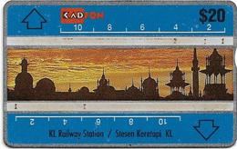 Malaysia (Kadfon) - K.L. Railway Station - L&G - 106B - 1991, 20RM, 170.000ex, Used - Malaysia