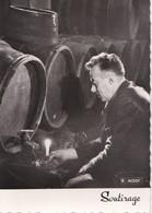 2 Cartes 1960 Par Moisy : Soutirage Du Vin En Tonneau / Compagnons De Beaujolais (scène D'intronisation) (alcool,vin) - France