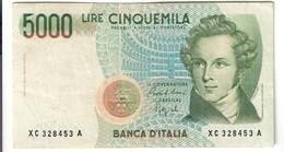 5000 LIRE BELLINI SERIE SOSTITUTIVA XC 1992  Raro NON TRATTATO LOTTO 2564 - 5000 Lire