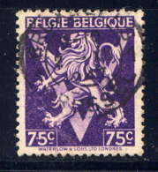 BELGIQUE - 679A° -LION HERALDIQUE SUR LE V DE LA VICTOIRE - Gebruikt